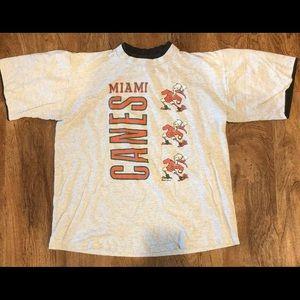 Vtg Miami Hurricanes T Shirt Large 1991